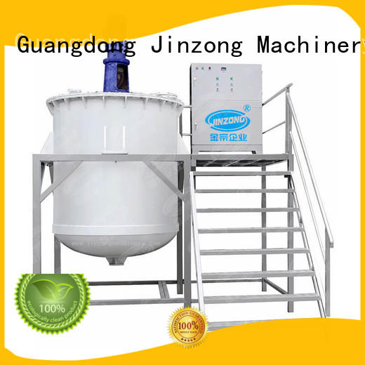 Jinzong Machinery homogenizing filling machines for cosmetic creams & lotions factory for nanometer materials