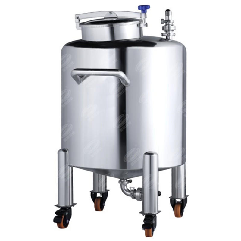 Movable aseptic storage tank