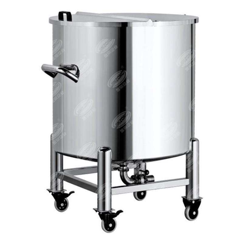 Portable Sanitary half open storage tank