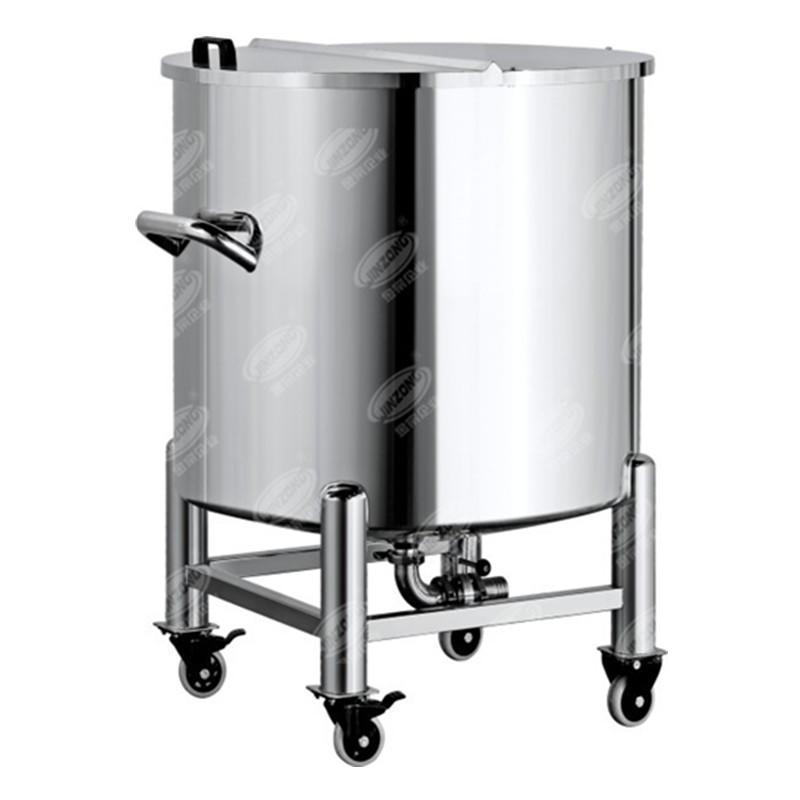 Portable Sanitary half open storage tank