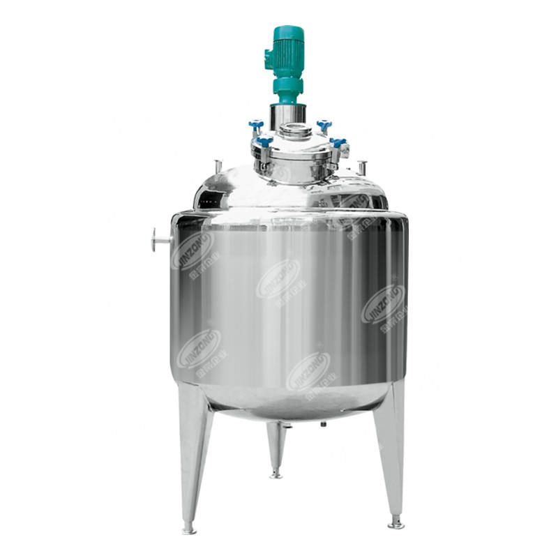 Stainless steel jacket mixing tank