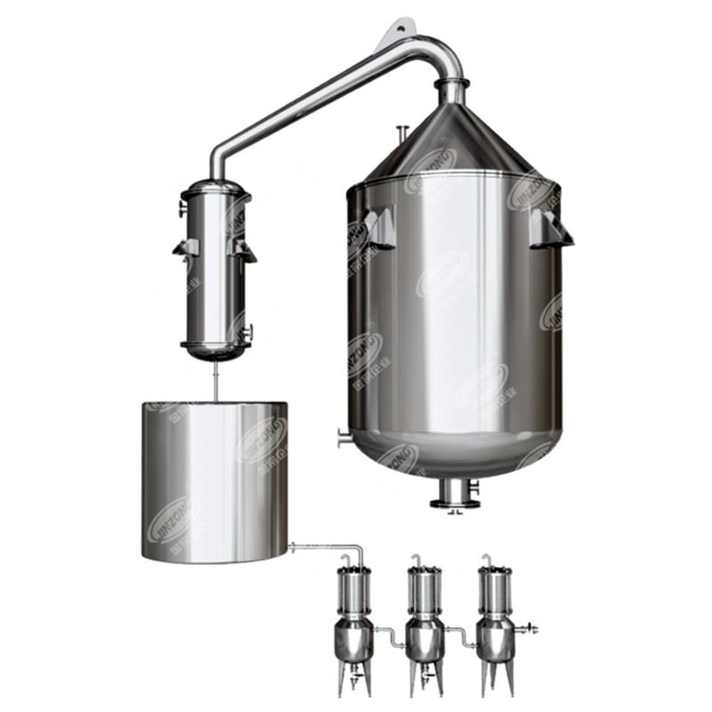 Steam Distilled Essential oil extractor extraction machine