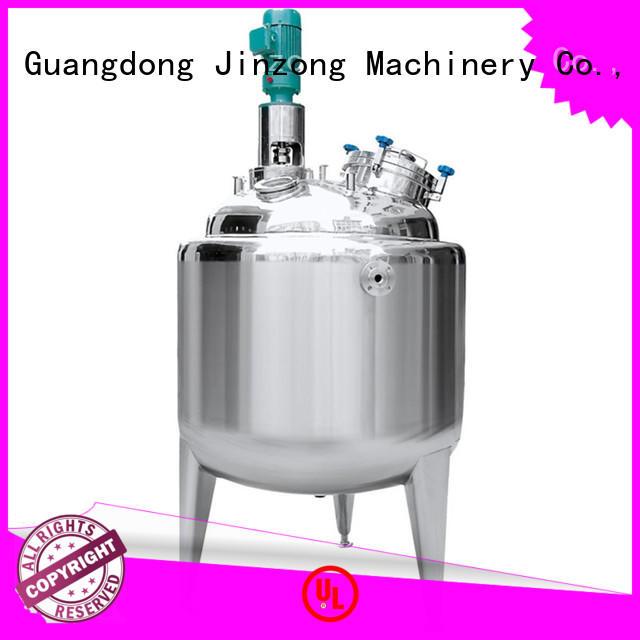 Jinzong Machinery making liquid detergent mixer series for food industries